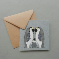 Emperor Penguin family card