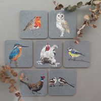 4 bird coasters (your own selection)