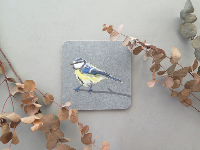 Blue-tit coaster