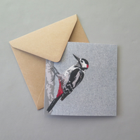 Great Spotted Woodpecker card