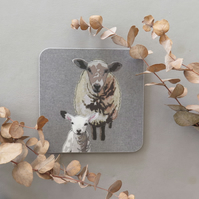 Sheep & lamb coaster