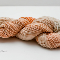 Soft Peach - Hand Dyed Yarn - Soft Sock 4ply, Merino Wool with Nylon