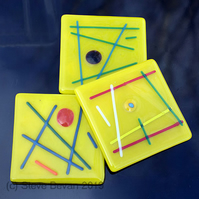 Fused Glass Coasters - Stripes & Dots