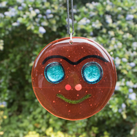 Fused Glass Smiley Face