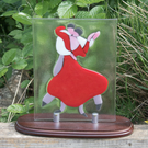 Fused Glass Red Dancers