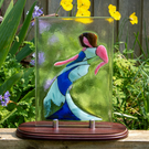Fused Glass Blue Dancing Lady