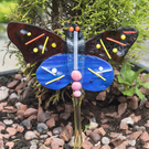 Fused Glass Butterfly on a Stake