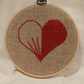 Red Half Woven Heart