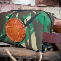 Military Star Camouflage Toiletries Dopp bag