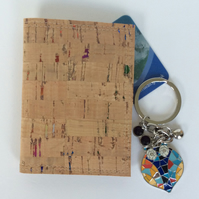 Cork fabric card holder