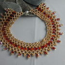 beaded gold anklet A0007