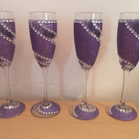 Individual champagne flutes