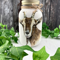 Large Rustic Goat Storage Jar