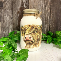 Highland Cow Storage Jar - Kitchen Decor