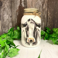 Large Cow Tea Coffee Sugar Jar