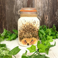 Large Square Hedgehog Storage Container - Nature Lover Gift