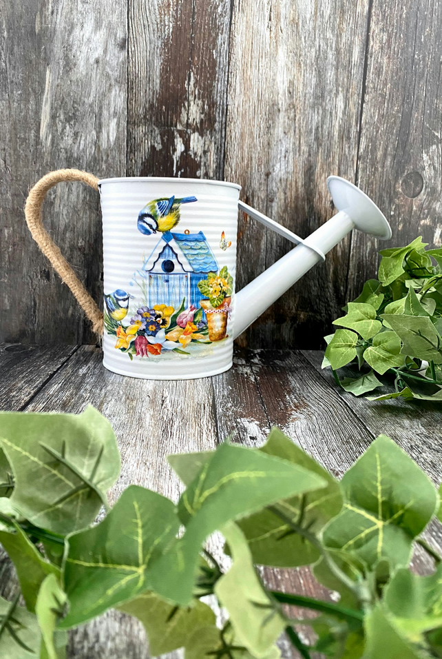Bright Garden Bird Watering Can - Gift For Nature Lovers