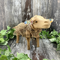 Unique Sheep Wooden Ornament - Animal Lover Gift