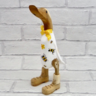 Bumblebee Booted Wooden Duck - Gift For Gardeners
