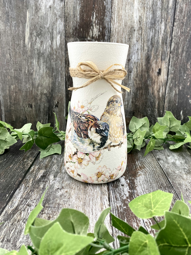 Country Style House Sparrow Vase