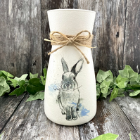 Watercolour Rabbit Keepsake Vase
