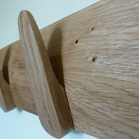 Oak Coat Rack - 4 pegs