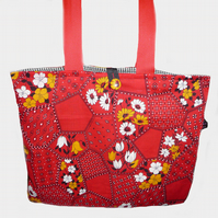 Vintage Fabric Tote Bag ~ ONE DAY SALE