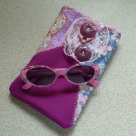 Sunglasses Case ~ Crazy Patchwork