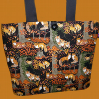 Tote Bag with Foxes