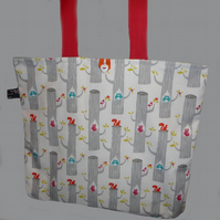 Tote Bag with Owls and Squirrels for Aila