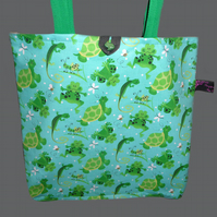 Tote Bag with Frogs.  RESERVED FOR KIM