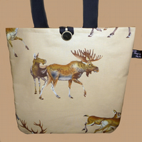 Moose and Deer Tote Bag, Shopping Bag