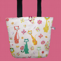 Calico Cats Tote Bag, Shopping Bag,
