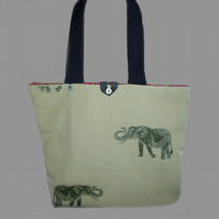Light Elephant Tote Bag, Shopping Bag