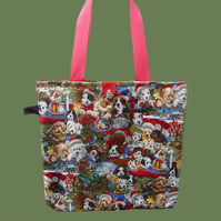 Christmas Puppies Shopping Bag/Tote Bag *SPECIAL OFFER*