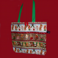 Teddy and Mince Pies Christmas Shopping Bag/Tote Bag *SPECIAL OFFER*