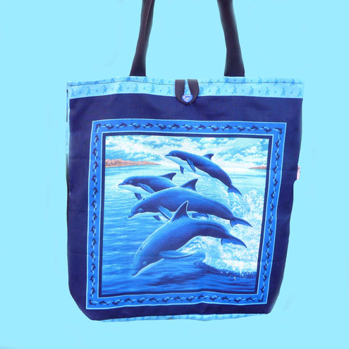 Shoulder Bag with Dolphins and Whales