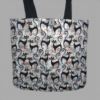 Classy Black Cats Tote Bag/Shopping Bag