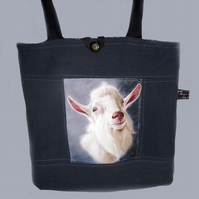 Goat  Artwork Tote Bag/Shopping Bag/knitting bag
