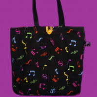 Music Theme Tote Bag/Shopping Bag