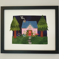 Woodland Cottage Giclée Print