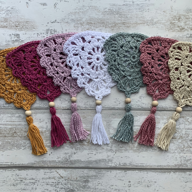 Custom bespoke order crochet vintage boho bunting - any colour and length