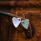 Fixed Wire Heart Earrings