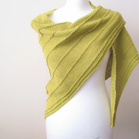 Eco Friendly Hand Knit Shawl