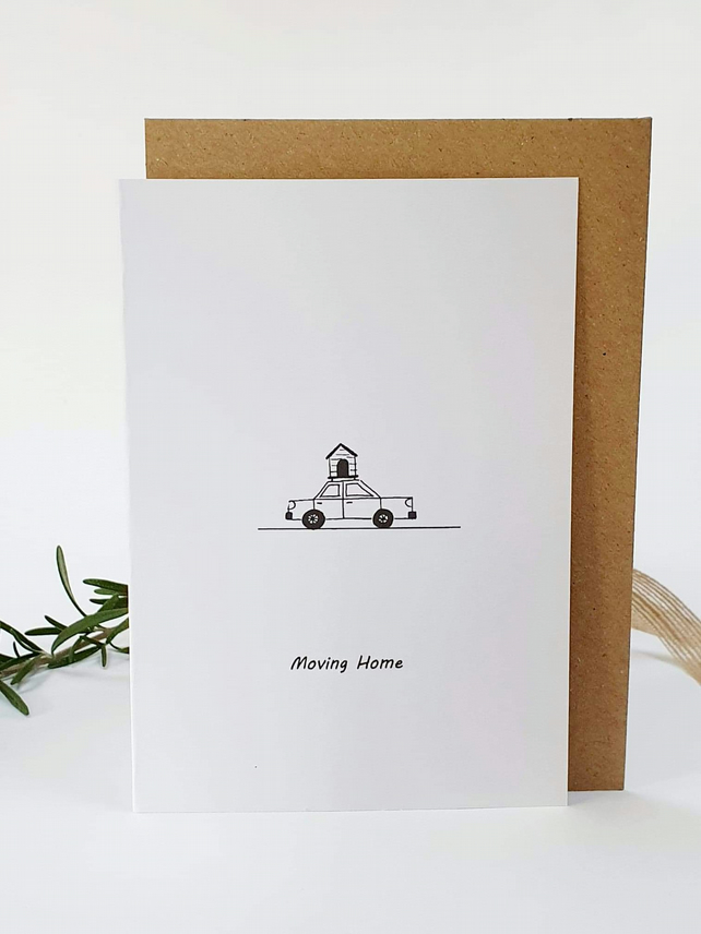 Dogs themed moving home card