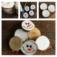 Rustic Natural Birch Wood Slices Embellishments, Card Making, Tags