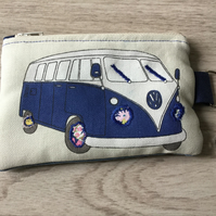 FREE U.K. POSTAGE  VW Fabric Coin Purse Or Face Mask Purse