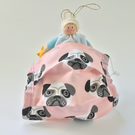 Child's Pug Fabric Face Covering