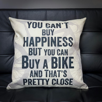 You Can't Buy Happiness Cycling Cushion Cover - MTB Bike Cushion Cover