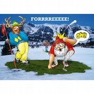 Golf Christmas card - Funny Christmas card - Card for husband - FORRRREEEE!